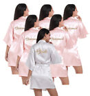 Satin Silk Personalized Wedding Robe Bridesmaid Bride Mother Child Dressing Gown