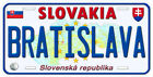 Slovakia Aluminum Any Name Personalized Novelty Car License Plate