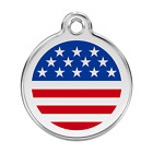 Red Dingo Dog ID, Pet Tags, Charms  Personalized Engraving UNITED STATES FLAG