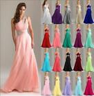 Formal Long Chiffon Wedding Evening Party Ball Gown Prom Bridesmaid Dress 8-18+