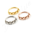 Surgical Steel Curved HINGED RING 1.2mm  Daith Ear Septum Bar CHOOSE COLOUR