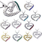 nice mom gifts - MOM Crystal Heart Pendant Necklace Chain Mothers Day Birthday Nice Gift For Mom