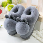 Lovely Rabbit Ears Soft Home Slippers Cotton Warm Winter Women Casual Indoor