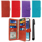 For Samsung Galaxy J7 J700 Flip ID Card Cash Slot Wallet Phone Cover Case + Pen
