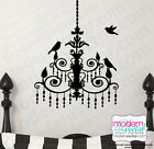 surf themed bedroom - CHANDELIER with Birds Paris Theme Vinyl Wall Decal Designs Decor Girls Bedroom