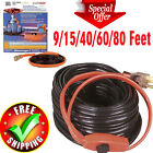 Pipe Heating Cable Cold Weather Freeze Protection Water Hose Valve Thermostat