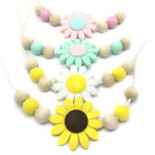 Sunflower Silicone Teether Nursing Mom Necklace Teething Baby Sensory Jewelry