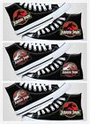 Jurassic Park neutral anime shoes cosplay high help black canvas sneakers