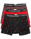 Polo Ralph Lauren Three Pack Classic Cotton Boxer Briefs Black Red White LCBBP3