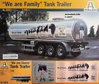"Italeri 1/24 Tank Trailer Milk Tanker ""We are Family"" New Plastic Model Kit 3911"