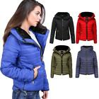 Womens Warm Bubble Quilted Puffer Coat High Collar Padded Ladies Jackets Sizes
