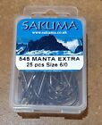 Sakuma 545 Manta Extra Hook - Boxes of 25 Hooks - Many Sizes Available