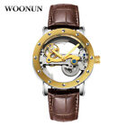 Luxury Men's Skeleton Bridge Leather Steampunk Automatic Mechanical Wrist Watch image