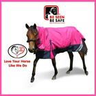 LOVE MY HORSE Mini / Pony 3'6 - 4'9 1200D Waterproof Rainsheet Combo Rug Pink