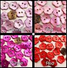 JB Lot 20 18L 11mm FLOWER Real Pearl Shell Button Crafts DIY Card Earring making