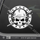 IronWorker Skull Crossbones Decal  ironworkers skull & bones ironworking sticker
