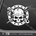 Riggers Skull Crossbones Decal - rigger material handling decal rigging sticker