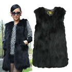 100% Real Farm RACC00N Fur Vest Special Design Gilet Long Jacket Grace Women
