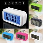 LED Digital Electronic Alarm Clock Backlight Time With Calendar + Thermometer AC