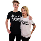 King Queen His Queen Her King Couple Matching Valentines Gift Romantic T shirt