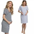 Zeta Ville. Women's Maternity Hospital Gown Nightie Stripes Labour and Birth. 07