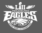 Philadelphia Eagles Super Bowl LII 52 Champions White Decal