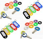 Coloured Key Toppers Key Tags ID Markers Keyring Fobs Label Mixed Colour