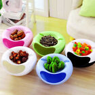 New Plastic Double-layer Circular Melon Seeds Dishes Desktop Cosmetic Box Hold