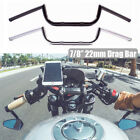 "Motorcycle 7/8"" Drag Bar Handlebar M Combo Kits Style Cruiser Chopper Cafe Racer $20.99 USD on eBay"
