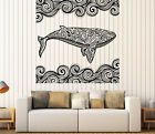 bedrooms decorated in gray - Wall Vinyl Decal Sticker Ocean Whale Decorative Tribal Ornaments n995
