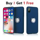 For iPhone X 8 Plus Shockproof Hybrid Ring Stand Magnetic Hard Armor Case Cover