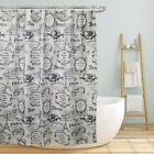 PREMIUM WATER RESISTANT FABRIC SHOWER CURTAINS, BEAUTIFUL DESIGNS, 70x70 CURTAIN