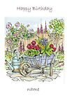 Personalised card, wheelbarrow, Birthday, Retirement, Mothers day, any occasion