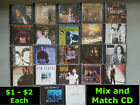 $1 - $2 Mix & Match Music CDs You Pick w/Original Cases Variety of Genres