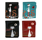 Shagwear Traveling Cats Short Faux Leather Bi-Fold Wallets (Choose Design) image