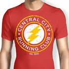 UNISEX Official DC Comics THE FLASH Central City Runing Club Logo T-Shirt New.