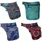 Large Pocket Cotton Bum Bag Utility Belt Money Pack Psytrance Pixie Hippy Boho