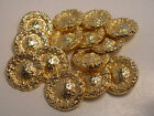 New lots Gold Metal Buttons 9/16, 11/16, 13/16 ,1inch Jacket  Blazer Coat  #G12