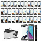 For Samsung Galaxy J7 2017 Dog Design Brushed Hybrid Phone Case Cover + Pen