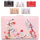 Ladies Faux Leather Embroidery Style Pearl Studs Wallet Purse Handbag M5009-328