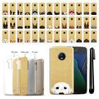"For Motorola Moto G5 Plus 5.2"" Dog Design Sparkling Gold TPU Case Cover + Pen"