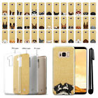For Samsung Galaxy S8+ Plus G955 Dog Design Sparkling Gold TPU Case Cover + Pen