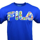 FILA Men's Tee T Shirt Logo Olympic Flags USA Apparel Athletic Sports BLUE NEW image