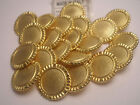 New Lots of Italian Gold Metal Buttons sizes 11/16' inch  1 1/16'' (#G26)