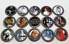 15pc Star Wars Geocoin geocaching Set geocaps Darth Vader Boba Fett Luke Yoda
