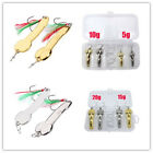Spoon Fishing Lure 5g-20g Metal Fishing Bait Feather Hook Bass Baits