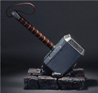 The Avengers 1:1 Thor Hammer Replica Resin Stand Base Cosplay Silver Props Gift