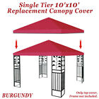 10'x10'  Single Canopy Replacement Top Patio  Gazebo Sunshade Polyester Cover