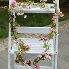 7ft Diy String Fake Rose Flower Vine Ivy Leaf Garland Floral Home Party Decor Uk