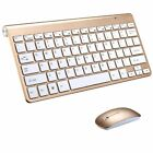 Ultra Slim 2.4G Wireless Full Size Portable Keyboard Mouse Combo For PC Laptop